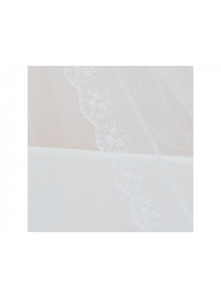 Балдахин в кроватку микросетка, кружево, атлас 4м