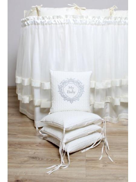Комплект для круглой (овальной) кроватки Мой малыш арт.6044