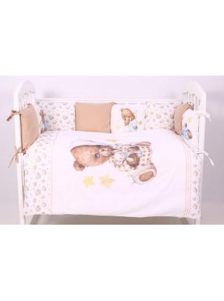 Комплект белья в кроватку Пижамная вечеринка 6 предметов