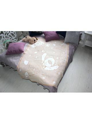 Одеяло байковое 90 х 100 см 100% хлопок