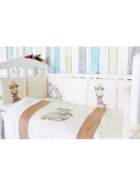 Комплект белья в кроватку Топотушки Зайка Акварель 6 предметов арт.674