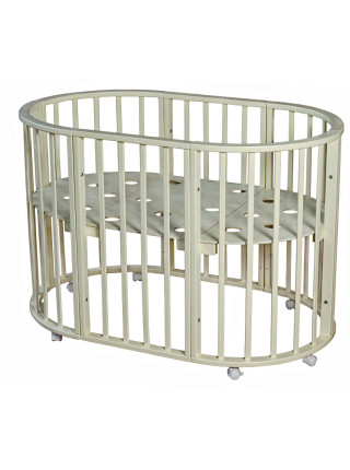 Кровать круглая-овальная НИКОЛЬ на колесах 6 в 1