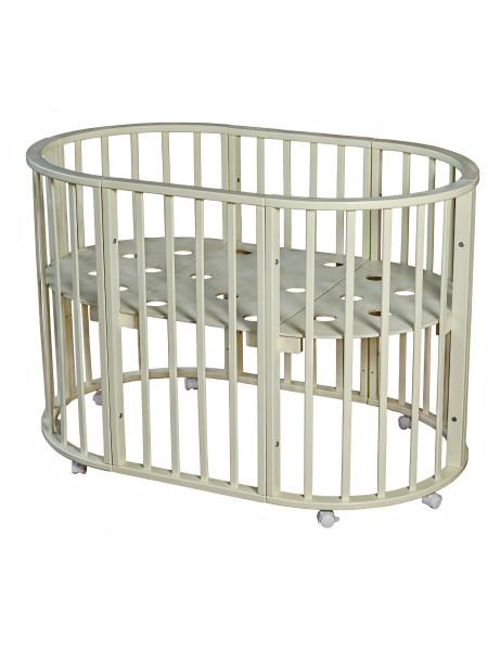 Кровать  НИКОЛЬ 7 в 1 круглая - овальная на колесах