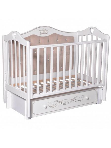 Кроватка детская Каролина  555 С МЯГКОЙ СПИНКОЙ