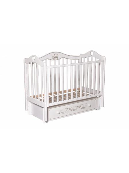 Кроватка детская Каролина  555 универсальный маятник, закрытый ящик