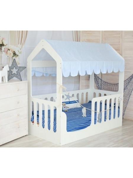 Кровать подростковая «Wooden bed»-5