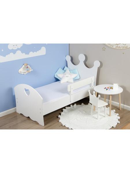 """Кровать подростковая «Wooden bed»-1 (Корона) """"(160*80см)"""
